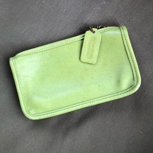 Green coach zipper pouch